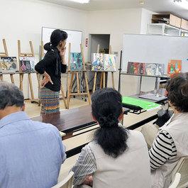 油絵 大人のアトリエ教室(月曜、木曜、金曜)講師 蝦名 協子