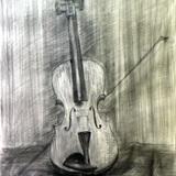 デッサン鉛筆画:制作時中学2年男の子