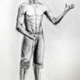 鉛筆画_ダンサー