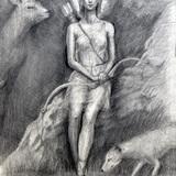 鉛筆画_アルテミス