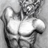 木炭画_石膏像 ラオコーン