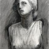木炭画_石膏像 ニオベの娘