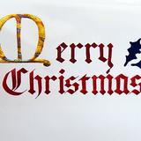 カリグラフィー作品_クリスマスカード