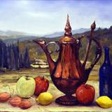 油絵静物風景画 イタリアルネッサンス技法講座月曜