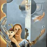 油絵画 蝦名協子の展覧会のエスキース教室木曜