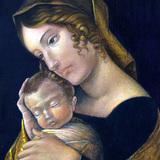 テンペラ模写 マンテーニャ「聖母子像」イタリアルネッサンス技法講座