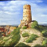油絵風景画 鍋島イタリアルネッサンス技法講座月曜教室
