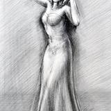 鉛筆画_フラダンサー