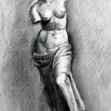 木炭画_石膏像 ミロのビーナス