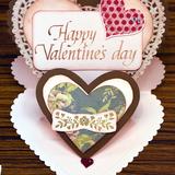 カリグラフィー作品_バレンタインカード