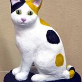 猫のタマちゃん:陶彫_高橋紗吏菜 作
