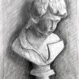 少年の像 鉛筆 :間瀬 蛍 作 制作時小学6年生