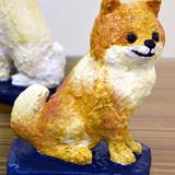 ポメラニアン 陶彫 :野中 嬉乃 作 制作時小学5年生