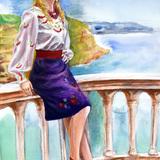 7月2日に人物スケッチ会を開催*初出演の金髪ウクライナ美女* イメージ