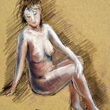 8月20日クロッキー会開催*裸婦ヌード イメージ
