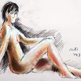 3月のクロッキー会開催:18日*裸婦ヌード#音楽の精 イメージ