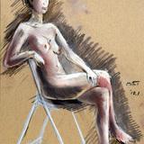 7月15日*クロッキー会開催します。裸婦モデル イメージ