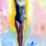9月2日*人物スケッチ会を再開します。モダンダンサー風衣装でバレリーナ イメージ