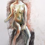 12月16日*クロッキー会開催します。裸婦ヌード イメージ