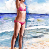 6月2日*人物スケッチ会開催します。初ヌードの美女婦人 イメージ
