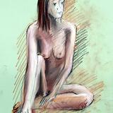 5月のクロッキー会開催:19日*北の国の美しき裸婦ヌード イメージ