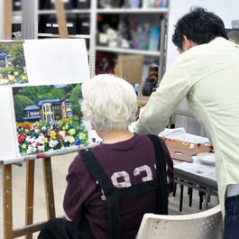 「旅の思い出の風景」を写真から描こう*鍋島正一指導