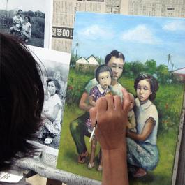 思い出の写真を絵に描いて飾ろう_鍋島正一 指導