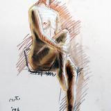 9月のクロッキー会開催します。19日#裸婦ヌード イメージ